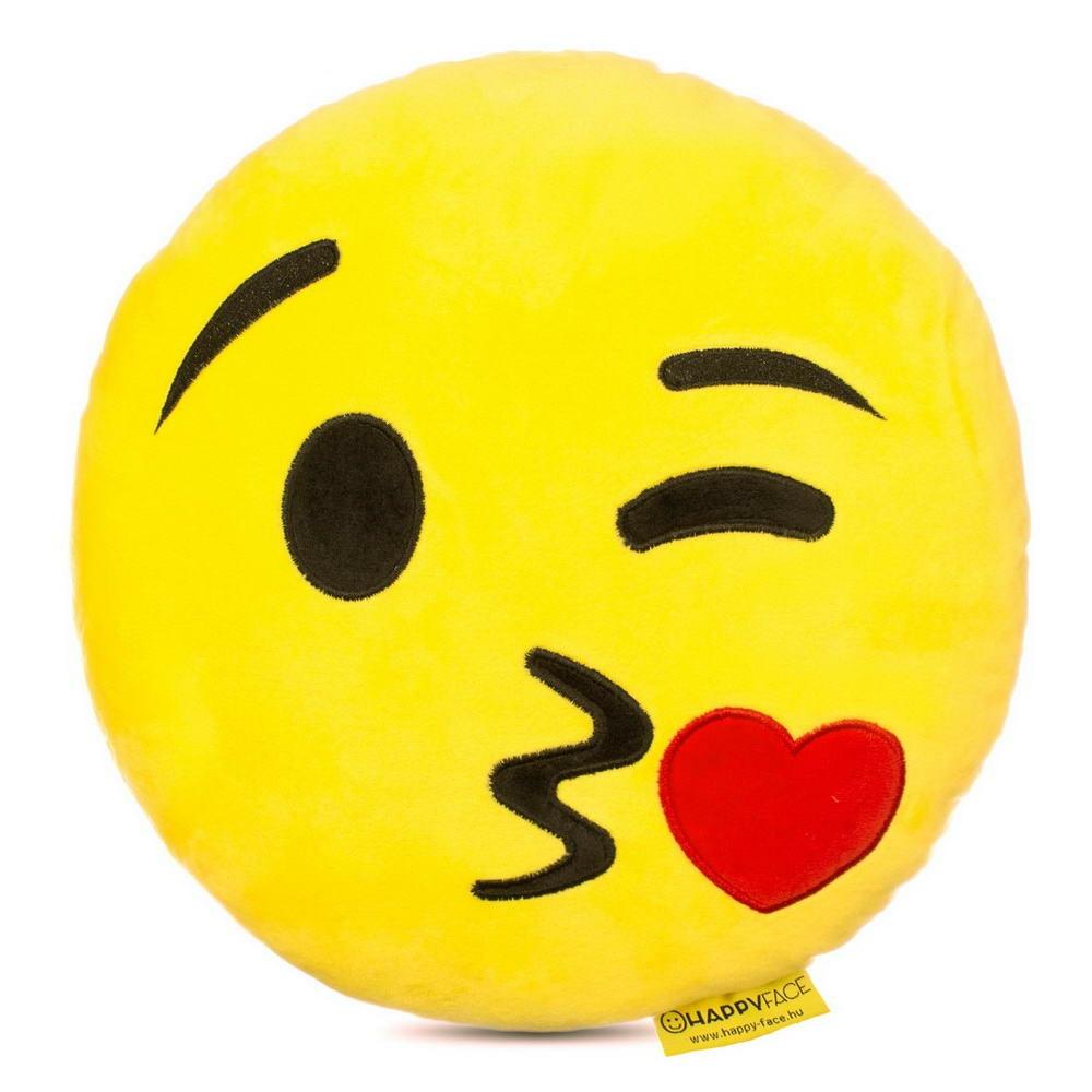 Csókos emoji párna  94ebf48378