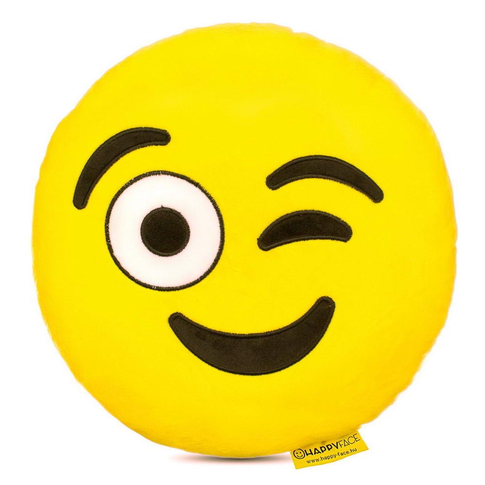 Kacsintós emoji párna  21fa0c396a