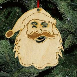 Fa karácsonyfadísz - Mikulás
