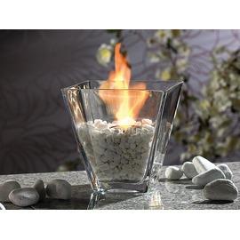 Asztali üveg biokandalló kövekkel – négyszögletes