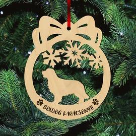 Fa karácsonyfadísz – Golden Retriever