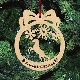 Fa karácsonyfadísz - Lovas