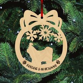 Fa karácsonyfadísz – Shih-tzu