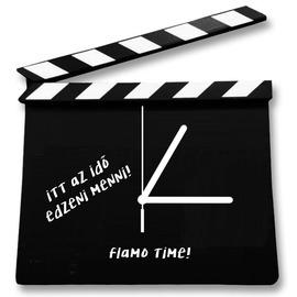 Filmes csapó tábla falióra