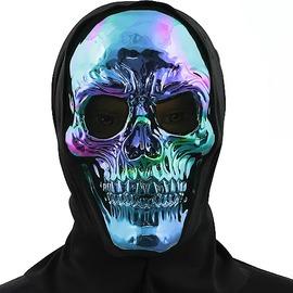Hálós metál koponya maszk