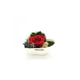 Smeraldino piros örökrózsa szív kaspóban