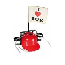 Sörsisak - I love beer zászlóval - piros