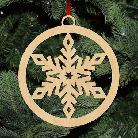Fa karácsonyfadísz - hópihe