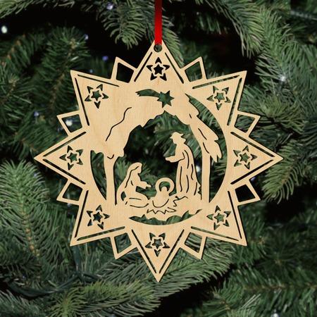 Fa karácsonyfadísz – Csillag Betlehem