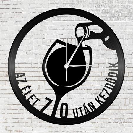 Bakelit falióra - Boros pohár 70