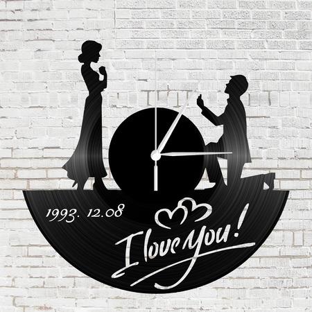 Bakelit óra szerelmeseknek - lánykérős
