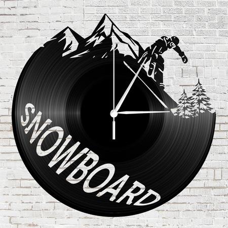 Bakelit óra - snowboard