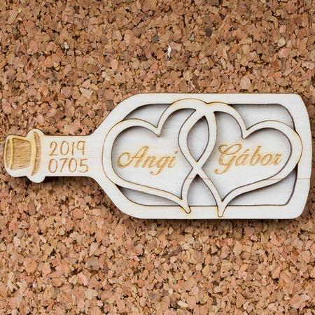 Esküvői köszönőajándék - palackba zárt szívek