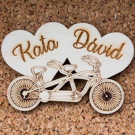 Esküvői köszönőajándék - Tandem bicikli