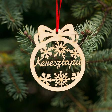 Fa karácsonyfadísz – Keresztapu