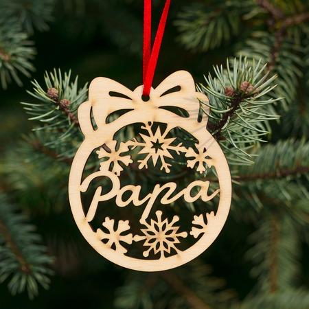 Fa karácsonyfadísz – Papa