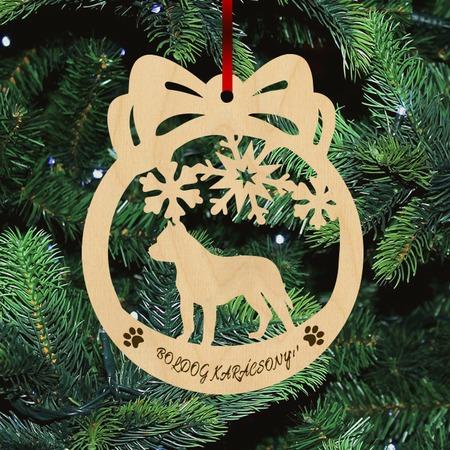 Fa Karácsonyfadísz - Pitbull