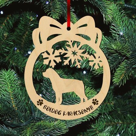 Fa karácsonyfadísz – Rottweiler