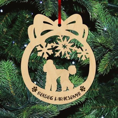 Fa karácsonyfadísz – Uszkár