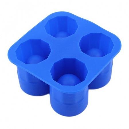 Jégpohár készítő szilikon forma 2x2 kocka