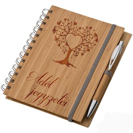 Bambusz füzet A5 + toll - Jegyzeteim