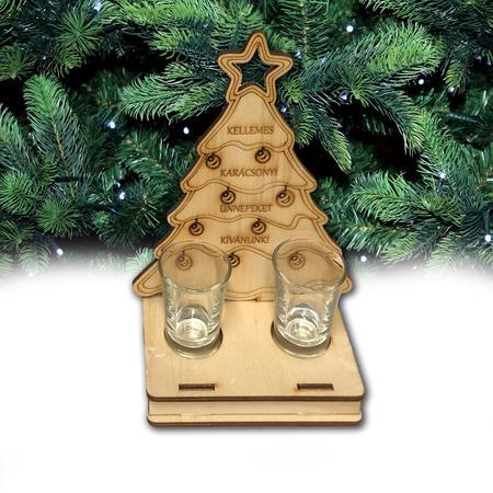 Fa karácsonyi italszett