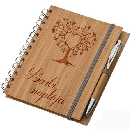 Bambusz füzet A5 + toll - Naplóm