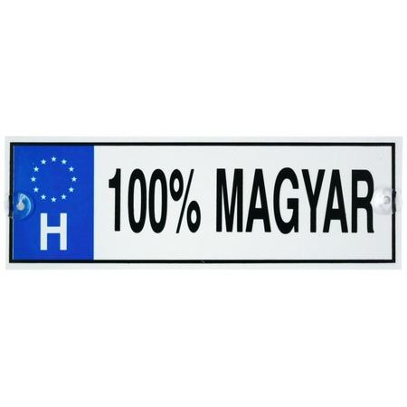 Rendszámtábla - 100% magyar