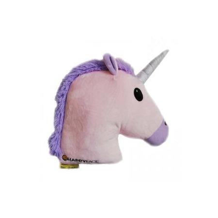 Rózsaszín unikornis Emoji párna
