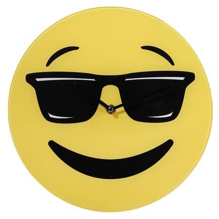 Smiley üveg falióra - szemcsis