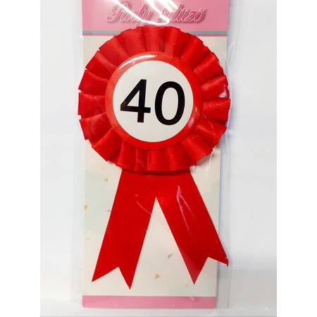 Party kitűző - 40