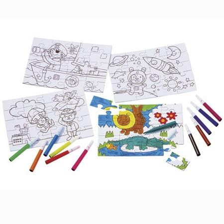 Színezhető puzzle filctollal