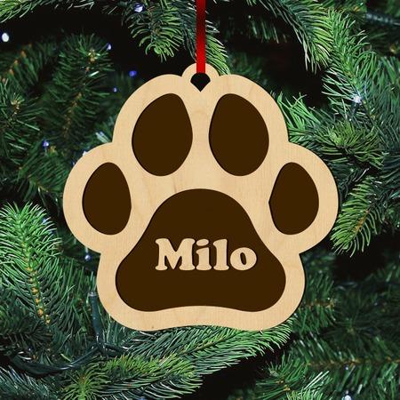 Fa karácsonyfadísz – Tappancs egyedi névvel