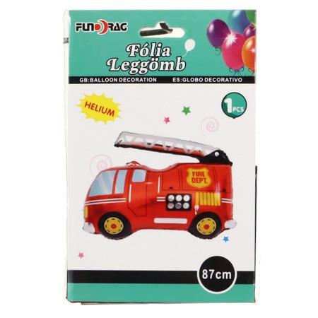 Tűzoltó autó fólia lufi 87 cm