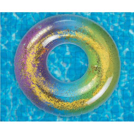 Glitteres úszógumi - 100cm