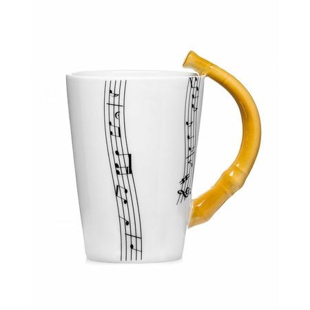 Zenész bögre - furulya