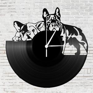 Bakelit óra - Francia Bulldog