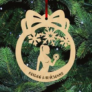 Fa karácsonyfadísz  - Bodybuilder nő