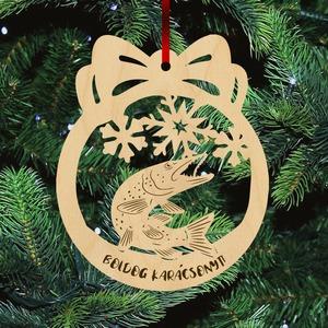 Fa karácsonyfadísz - Csuka