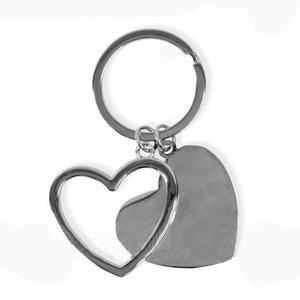 Dupla szív kulcstartó - gravírozással