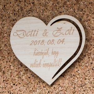 Esküvői köszönőajándék - Szív