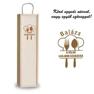 Fa bortartó doboz - Szakács