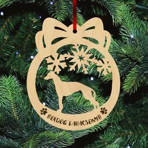 Fa karácsonyfadísz - Agár