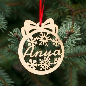 Fa karácsonyfadísz – Anya