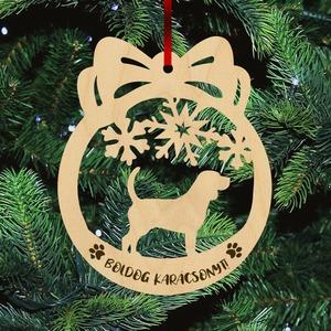 Fa karácsonyfadísz - Beagle