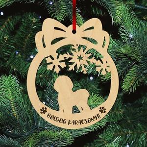 Fa karácsonyfadísz – Bichon