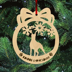 Fa karácsonyfadísz - Dobermann