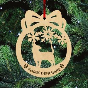 Fa karácsonyfadísz - Jack russel