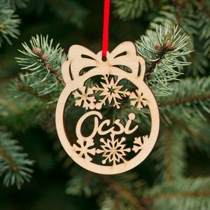 Fa karácsonyfadísz – Öcsi