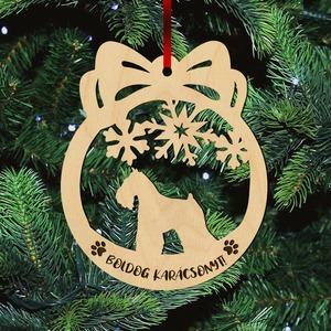 Fa karácsonyfadísz - Schnauzer